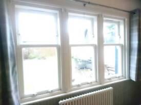 Timber modern box sash double glazed windows x2