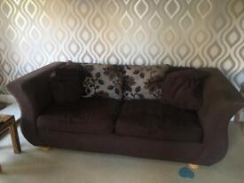 Sofa and chair (well worn) £50.00