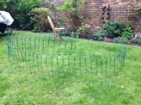 Border fence, green PVC-coated wire, 40cm high,