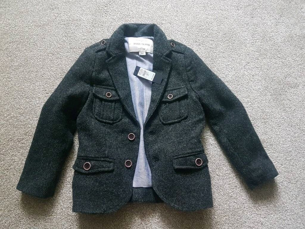River Island smart girls coat. Grey. New 3 years