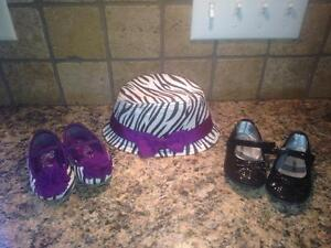 Size 5 shoes with matching hat all for $5