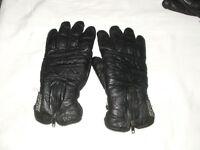 SPORTEX. black leather motor bike gloves. mens. size xxl