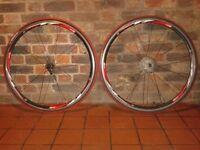 Rodi 4 Airline race wheels wheelset 700c pair tyre red/white/black