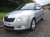 SKODA FABIA 1.4 DIESEL , 2010 REG , 5DR ,GREENLINE £20 YEARLY TAX , 68 MPG , MOT OCT 2018 ,