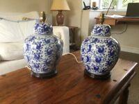 Chinese ceramic lamps