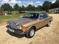 Mercedes Benz E230 CE W123 Coupe classic car retro rare mk1 gti