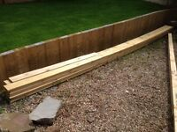 12 Redwood Decking Boards 6 metre Length 145 x 28 Groved one side Flat the other