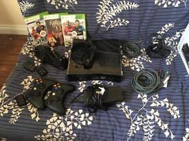"""Xbox 360 with 3 games, accessories and a 32""""TV to play it on."""