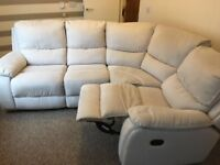 Fabric recliner left or right corner sofa
