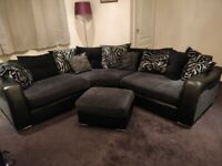 DFS Charcoal Grey corner sofa
