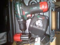 Parkside 12V Team 12V Cordless Drill Driver & CARRY CASE BATTERY&CHARG