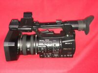 Sony HXR NX5 E professional camcorder with 2 batteries, 2 32Gb SDHC memory cards, box & paperwork