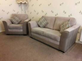 2 seater sofa and single chair.