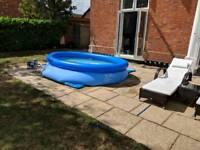 Intex 10' easy up swimming pool