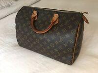 Authentic LV Louis Vuitton Speedy 35 Monogram canvas leather women's hand bag, purse, rrp £710