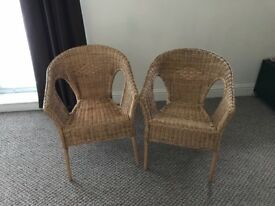 Rattan Chairs (2) very good condition