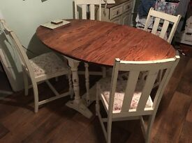 Lovely shabby chic solid wood dining table