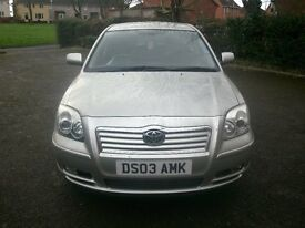 2003 Toyota Avensis T3-X 1.8 Silver 5 door hatchback Mot Currently taxed Service stamps