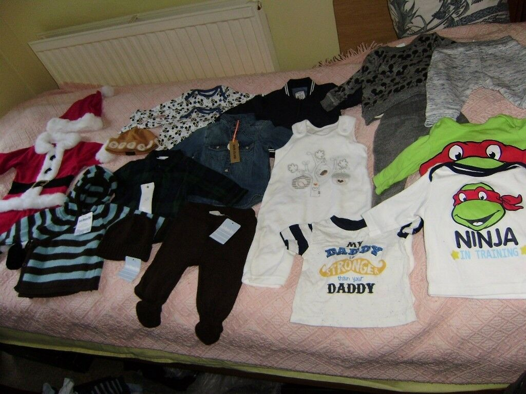 Baby Boys Clothes 0 3 Mths Big Bag Lots Of New Items
