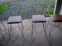 4 ANTIQUE BAR CHAIRS