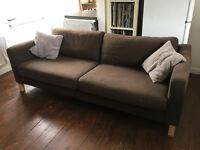 Ikea Karlstad Brown 3 Seater Sofa