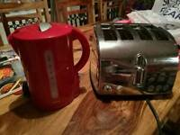 Kettle and 4 slice toaster