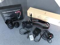 Canon 700D camera + 2 x Canon lens, remote switch, stabiliser and tripod!