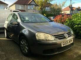 2005 VW GOLF 1.9 TDI DSG WITH 1 YEARS MOT , FULL SERVICE HISTORY WITH ONLY 129K MILES