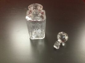 Cut Crystal Square Whisky Decanter and stopper