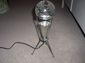 Pair of Stunning Retro Glass and Chrome Globe Designer Lamps – bought for £120