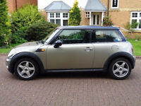 MINI HATCH COOPER 1.6 COOPER 3d 118 BHP FULL YEAR MOT SERVICE RECORD, HALF LEATHER