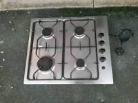 STAINLEES STEEL GAS HOB AND FIXINGS ETC