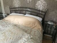 King size bed frame and two matching side tables