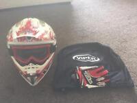 Viper Motocross Helmet with Wulf Sport Gloves
