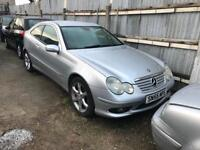 2005/55 MERCEDES C220 CDI SPORT AUTOMATIC 3 DOOR COUPE SPARES OR REPAIRS