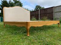 Spectacular Feather & Black Sienna Upholstered Solid Oak 6FT Super King Size Bed Frame - RRP £1,499