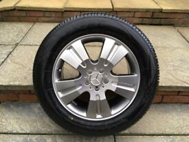 ALLOYS X 4 OF 18 INCH GENUINE MERCEDES ML 4X4 FULLY POWDERCOATED IN A SHADOW/CHROME WITH NEW TYRES