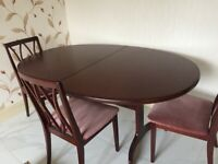 G Plan Dining Table & 4 Chairs