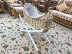 Moses basket with stand excellent condition £20