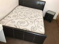 Bed & Side Table (Mattress Included)