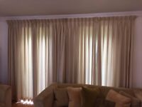 Three Pinch Pleat Lined Curtains