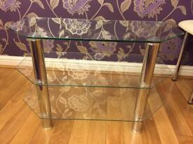 Tv stand chrome and glass great condition must go
