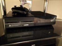 Xbox one console, controller and games