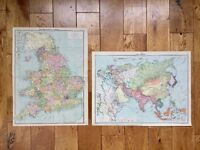 England and Wales, Asia Vintage Maps