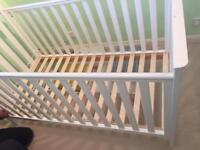 Mothercare James Town Cot bed & under bed drawer