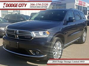 2016 Dodge Durango Limited | AWD - DVD, Sunroof, Remote Start