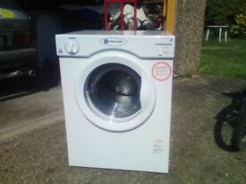 white knight 3kg,rear vented small tumble dryer,only 4 months old,immaculate,creda,bosch,