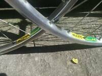 Mavic MA2 Polished Alloy 700c Road Bike Wheel Set - 7 Speed Cassette