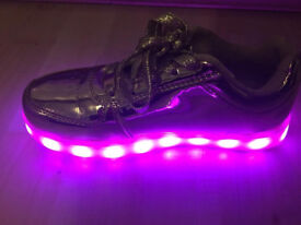 As new size 2 (35) light up led trainers