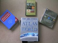 Job lot 4 Books Atlas of the World rrp£60 e.encyclopedia rrp£25 Reference Encyclopedia Book of Facts